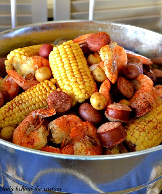 Lady Behind The Curtain - Country Shrimp Boil
