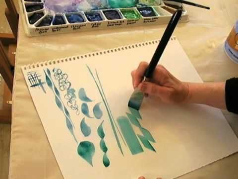 Beginning Watercolor Stroke Work Tips For Loading Brush And
