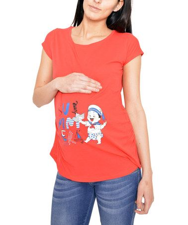 Loving this Red Sailor Baby Maternity Tee - Women on #zulily! #zulilyfinds