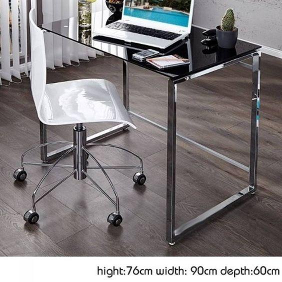 Fekete króm íróasztal - a dolgozószoba elengedhetetlen kelléke!