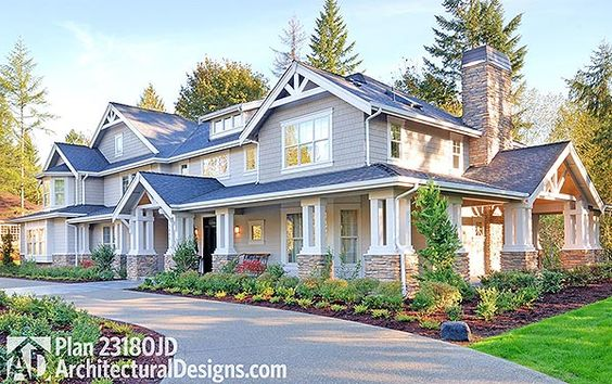 Craftsman rambler house plans and rambler house on pinterest for Craftsman rambler house plans
