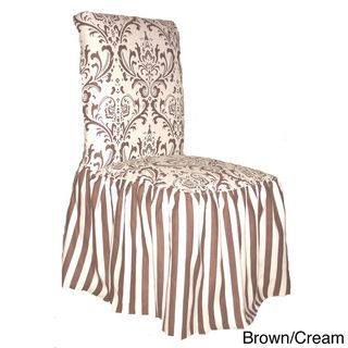 black white damask and stripe dining chair cover set of 2 images