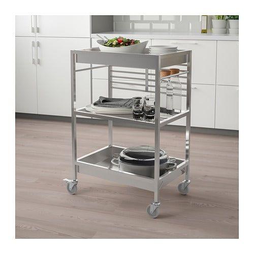 Kungsfors Kitchen Cart Stainless Steel 23 5 8x15 3 4 Kitchen