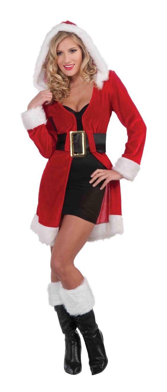 Sexy mrs santa claus costume shirt coat new ebay