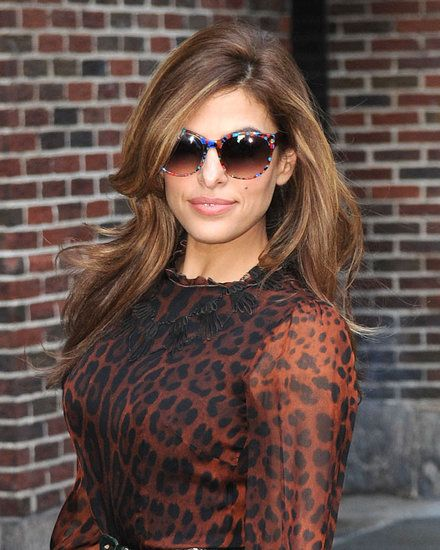 Eva Mendes Goes Wild in Leopard For a Letterman Appearance | Photos