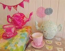 ... Tea Party Set Sewing Pattern for Fabric Tea Pot, Tea Cup & Saucer