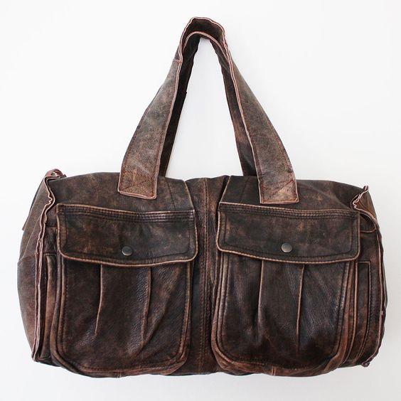 Sonoma repurposed vintage leather duffle tote bag // reMade USA by Shannon South // made in USA #recycled #upcycled #reclaimed