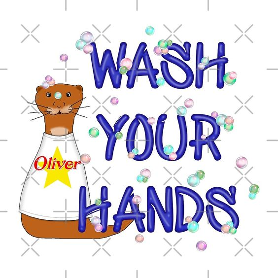 """""""Wash Your Hands Oliver The Otter"""" by Colleen Cornelius 