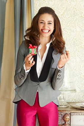 love the tuxedo jacket and pink pants
