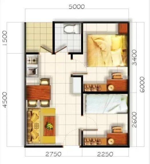 Desain Rumah Sederhana 4x6 Desain Rumah Kamar Tidur Minimalis Rumah Minimalis Hotel room design 4x6 desain