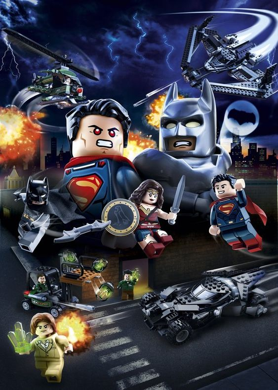 Batman v Superman - poster LEGO