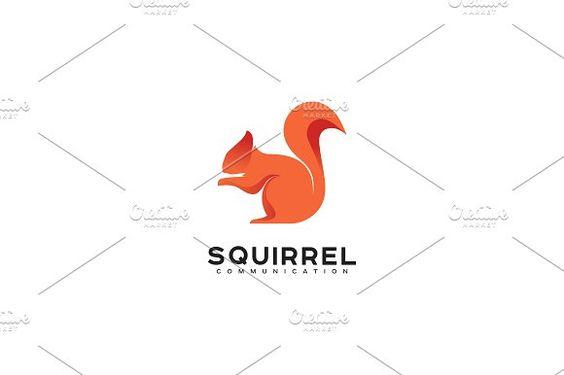 Squirrel Logo by drawzen on @creativemarket