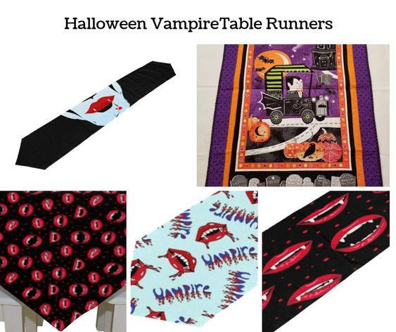 Halloween Vampire Table Runners