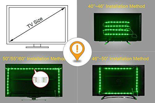 Bmouo Usb Led Strip Light 100cm 3 28ft Multi Color 30leds Flexible 5050 Rgb Usb Led Strip Light Tv Background Lighting Kit With 5v Usb Cable And Mini Control Bias Lighting Led Strip Lighting
