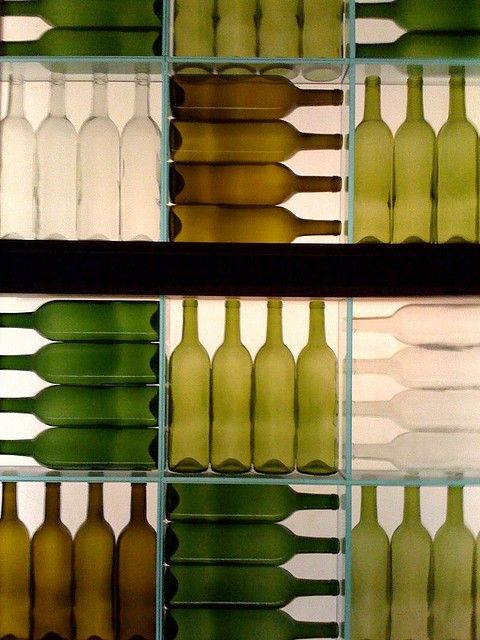 Bottle wall cool walls and repeating patterns on pinterest - Wall decor for green walls ...