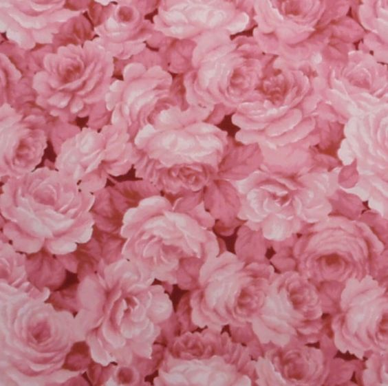 Pink roses floral fabric  1 yard by ksewingbasket on Etsy, $8.00
