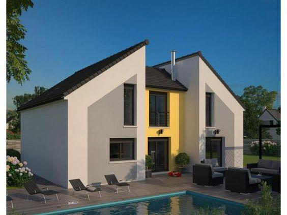 Modèle Concept : maison moderne à étage de 130m2 3 chambres + 1 ...