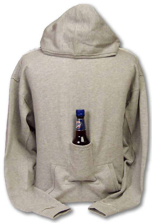 Because carrying a beer is hard when you're cold. Beer Pouch Hoodie - CraftBeerTime.com