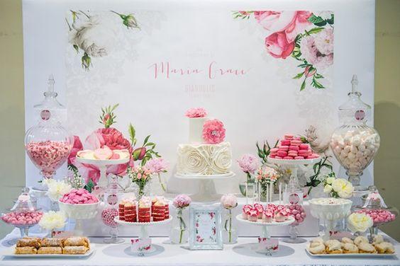 festa primavera/ decoração flores primavera, festa rosa, festa infantil menina, festa batizado, festa das flores: