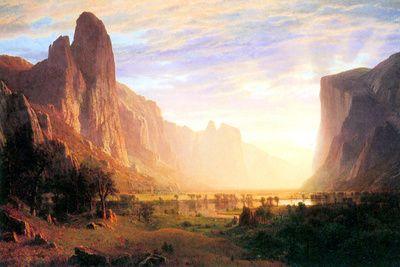 Albert Bierstadt Yosemite Valley Landscape Poster