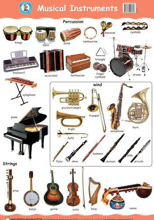 Musical Instruments Educacion Ingles Fichas De Música Reglas Del Ingles