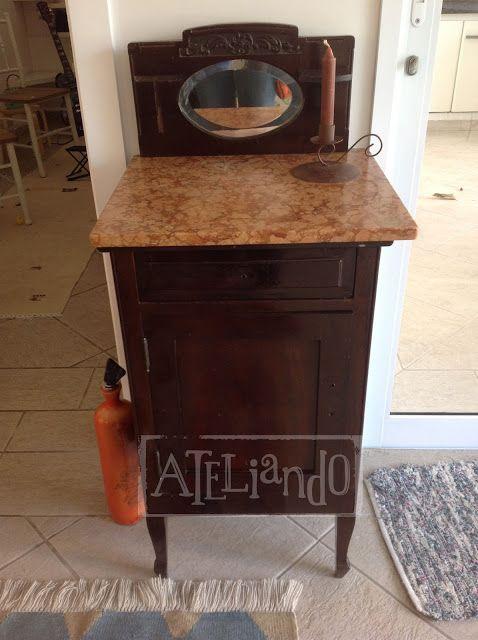 """Ateliando - Customização de móveis antigos  Olha o """"Antes do Antes"""""""