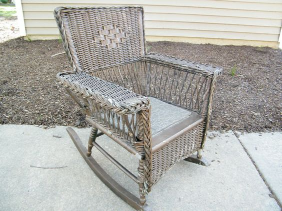 Children's Wicker Chair by assemblage333 on Etsy, $110.00
