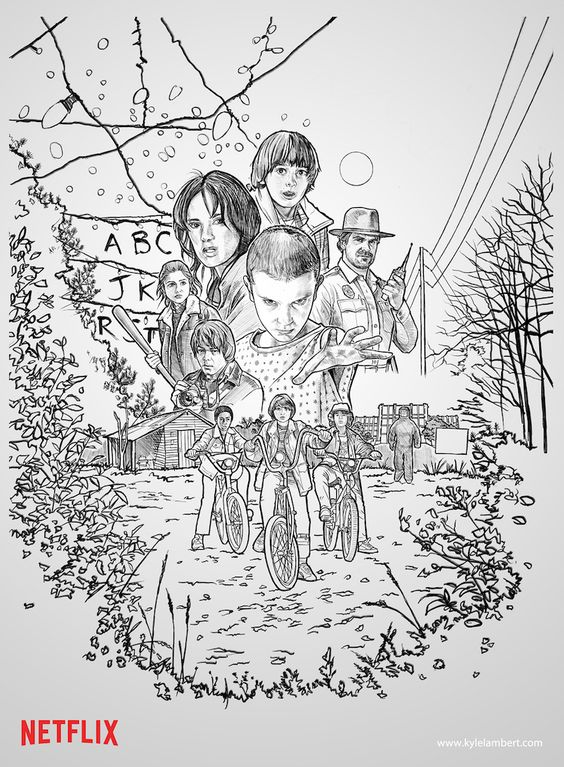 'Stranger Things' Poster Began as Sketch Created With iPad Pro and Apple Pencil - Mac Rumors