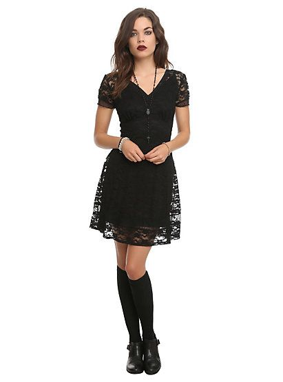 Royal Bones Black Lace DressRoyal Bones Black Lace Dress,