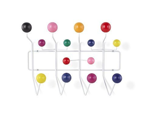 Mlf Modern Hang It All Wall Mounted Coat Rack With Painted Solid Wooden Balls In Multi Color New For Sale