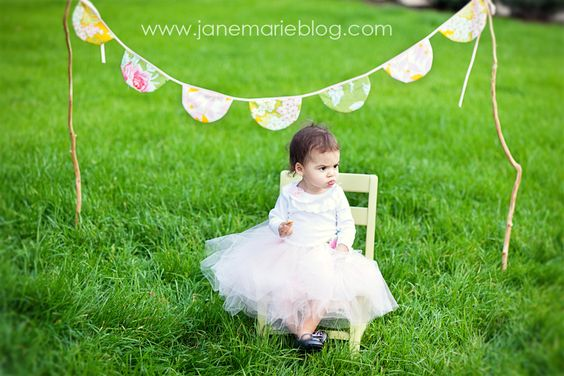 make a bunting banner for your child's photos