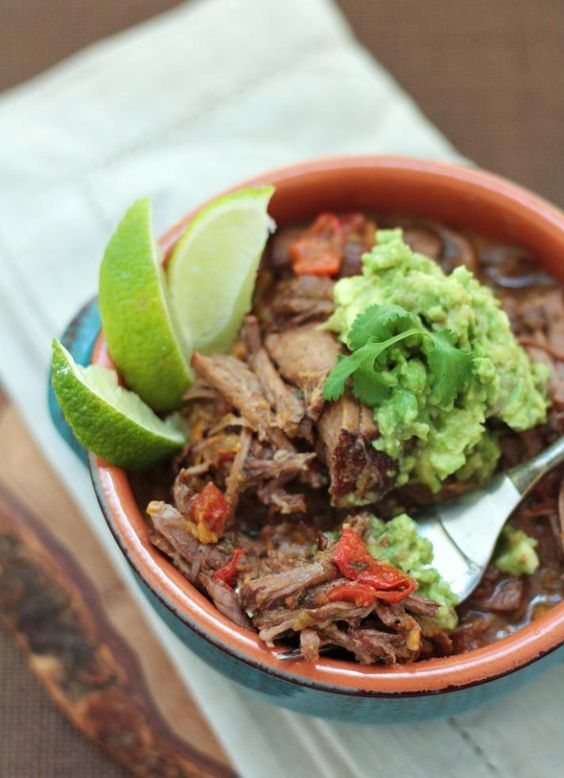 Cuban Pot Roast Recipe (Ropa Vieja) - a low carb and gluten free recipe from ibreatheimhungry.com  PALEO!...Use bavette (moins gras) or hampe steak...chuck toast...more flavor/tenderness...but more fat!