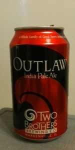 Outlaw IPA - Two Brothers Brewing Company  Paired w/ Quiche