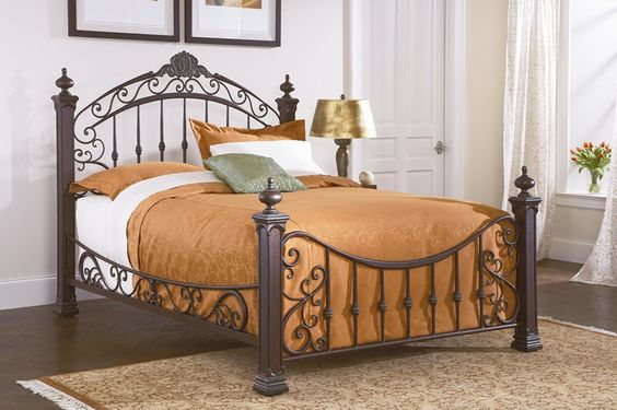 Weathered Copper Metal Bed | Brian's Furniture