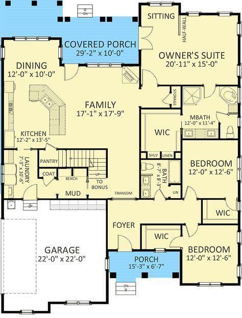 Plan 46310la European House Plan With Bonus Room Potential House Plans Open House Plans New House Plans