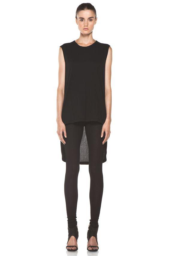 SILENT DAMIR DOMA   Rib Leggings in Vintage Black