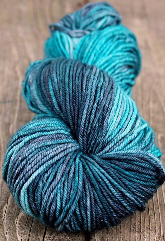 Cashmere Merino Hand Dyed Worsted Yarn 115g by blissfulknitsyarn, $29.00