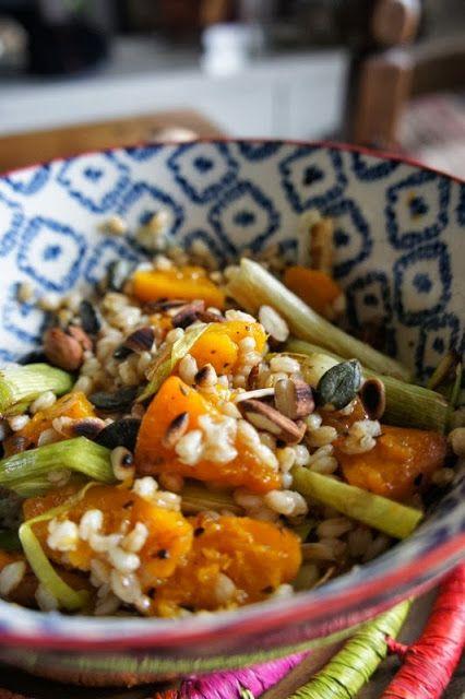 Gourmandises et Merveilles: Salade de petit épeautre, butternut et poireau rôt...