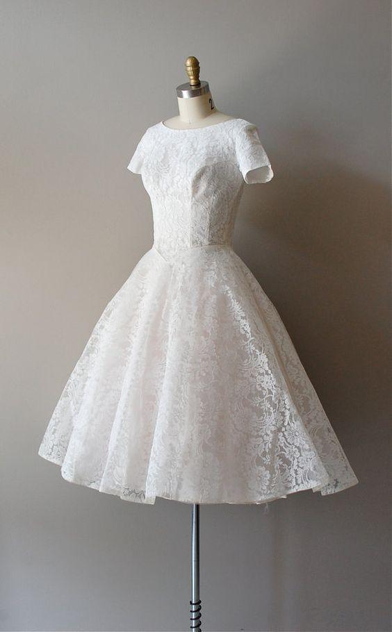 1950s You Send Me   lace wedding dress, $425    https://www.etsy.com/listing/100988679/50s-lace-wedding-dress-1950s-wedding