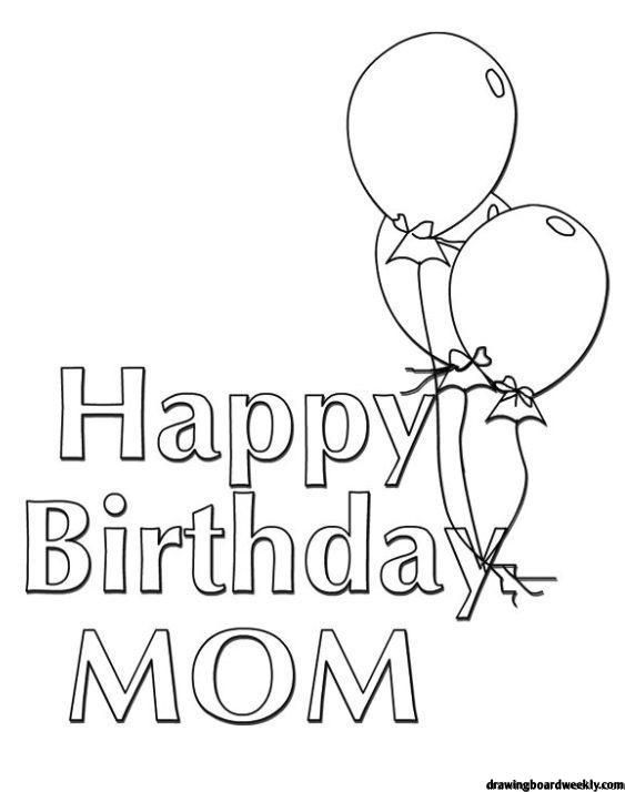 Happy Birthday Mom Coloring Page Mother S Day Is A Celebration