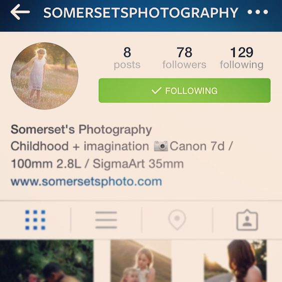 Please come follow my *new* Instagram account!  @somersetsphotography