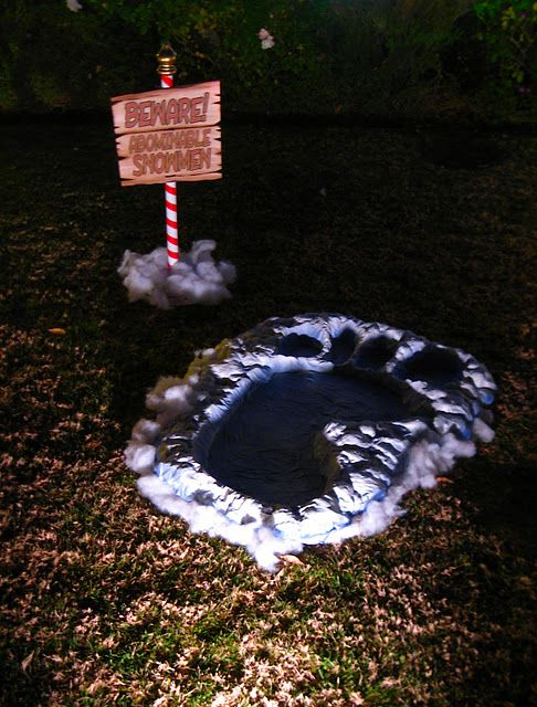 Halloween projects guys and halloween on pinterest for Abominable snowman outdoor decoration
