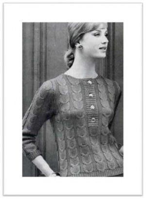 SLIPOVER SWEATER VINTAGE CROCHET PATTERN #1876: $7.50