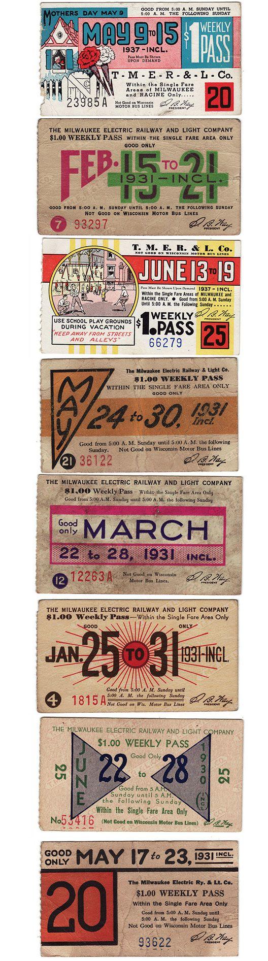 1930s bus tickets