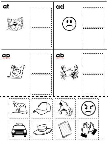 Printables Free Phonemic Awareness Worksheets cut and paste phonological awareness worksheets on pinterest free rhyming worksheet voiced unvoiced word families