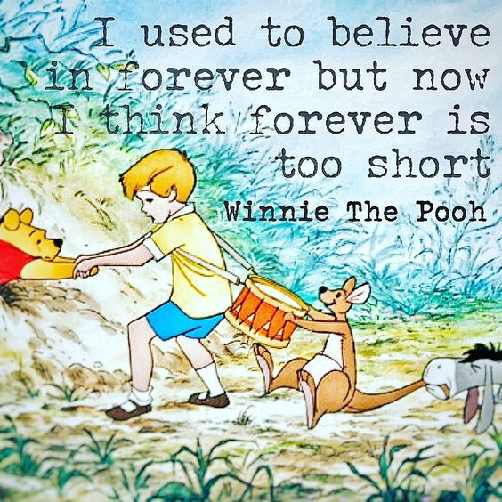 Time with loved ones is never long enough! #WinnieThePooh #quote