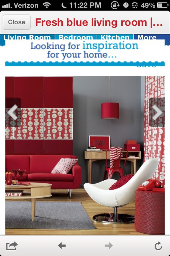 Gray Red Together Must Do This Room Is From Sarah Richardson Color Pinterest Sarah Richardson Gray And Red