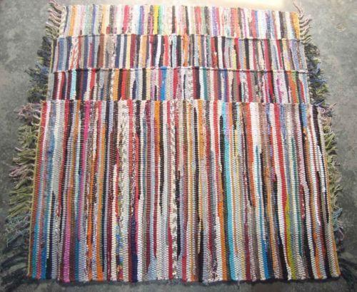 Fair Trade Cotton Handmade Multi Colour Chindi Rug Area Rag Rugs Weave Mat Mats Carpet Handmade Handmade Rag Rug Rag Rug