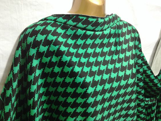 Scuba Poly Large Dogtooth Print 4 Way Stretch Dress/Craft Fabric*FREE P&P* in Crafts, Sewing & Fabric, Fabric | eBay