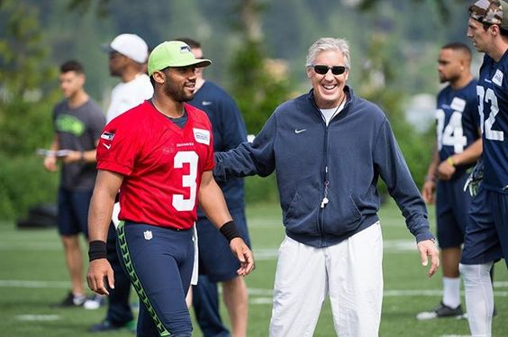 """@petecarroll is taking @dangerusswilson """"to school"""" this offseason to help him better understand the inner workings of the opposite side of the . """"The more knowledge the better,"""" Wilson says. #ChampionshipOffseason"""